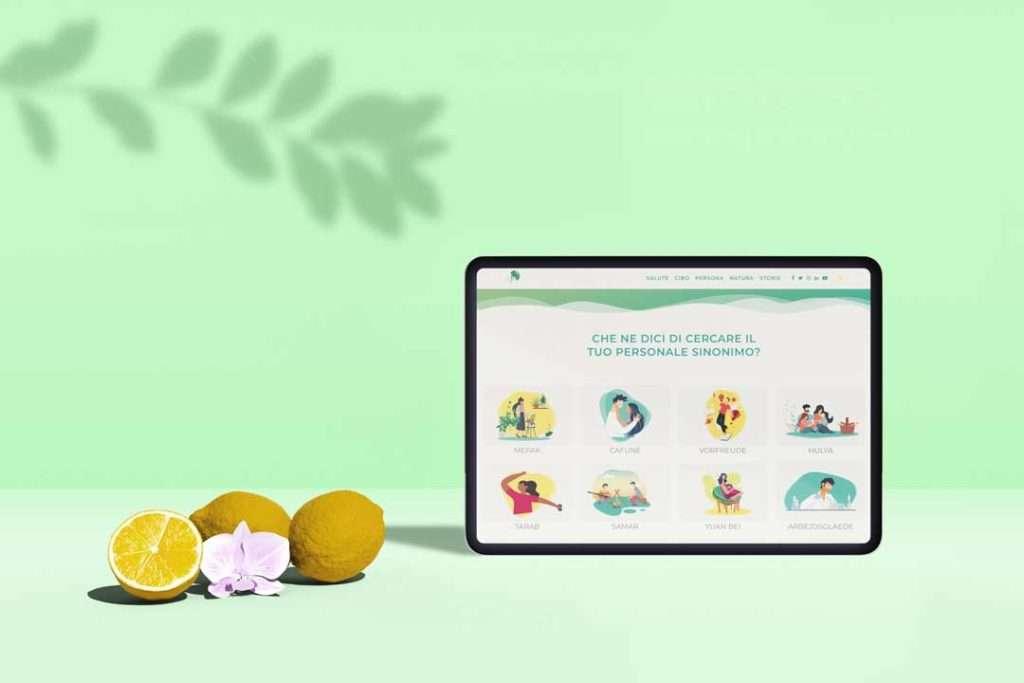 tablet_sito_web_sinonimo_di_benessere_limoni_foglie_portfolio_hitlife_agency